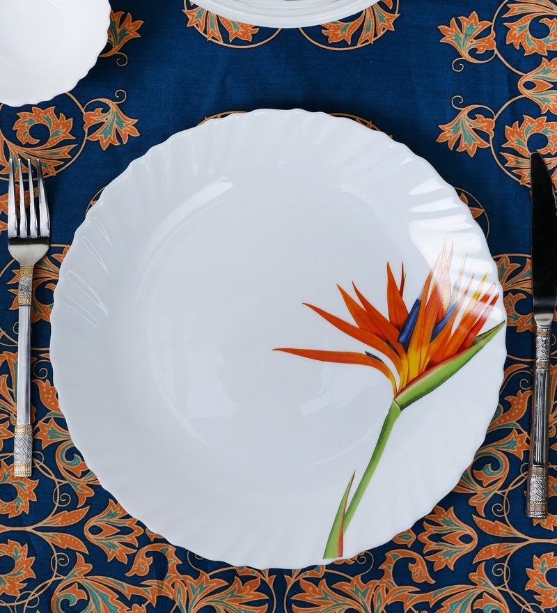 La Opal Diva Flaming Grace Opal Ware Dinner Plate Set of 6