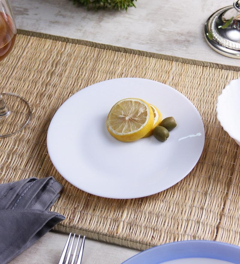 La Opala Diva Plain Round Opal Ware Dinner Plates - Set Of 6