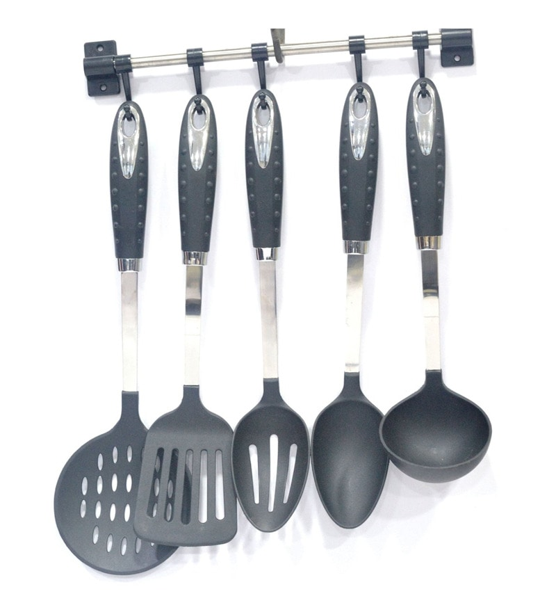 Lacuzini Royal Nylon Serving 6-piece Spoon Set with Stand