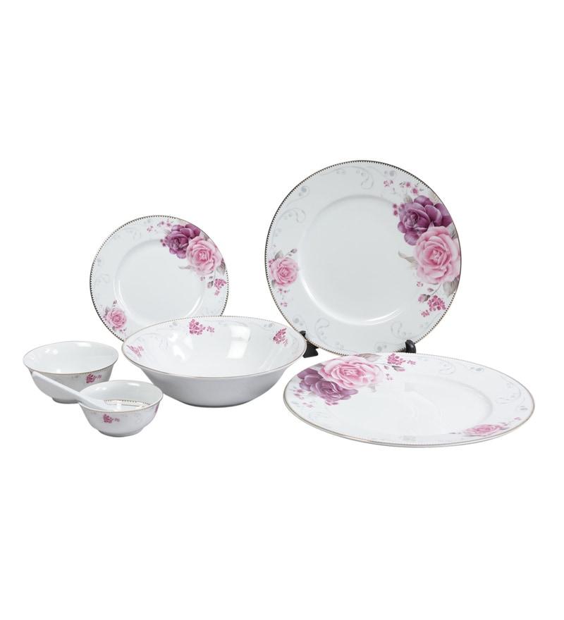 Porcelain Dinner Set - Set of 33 by Lakline