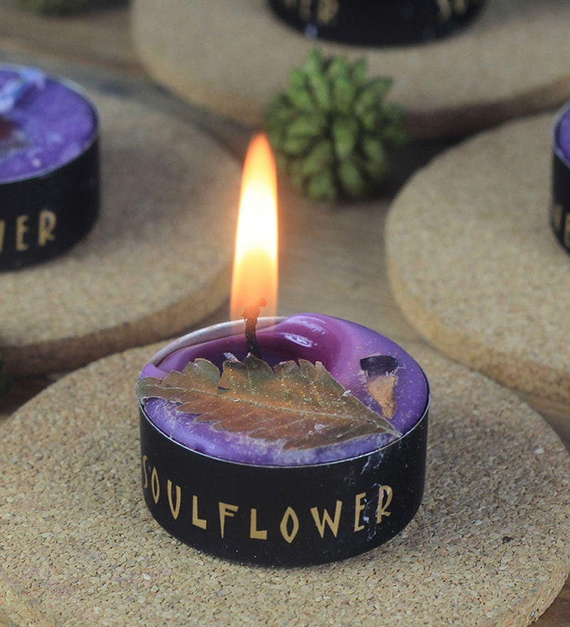 Lavender Small Tea Light Candles by SoulFlower - Set of 25