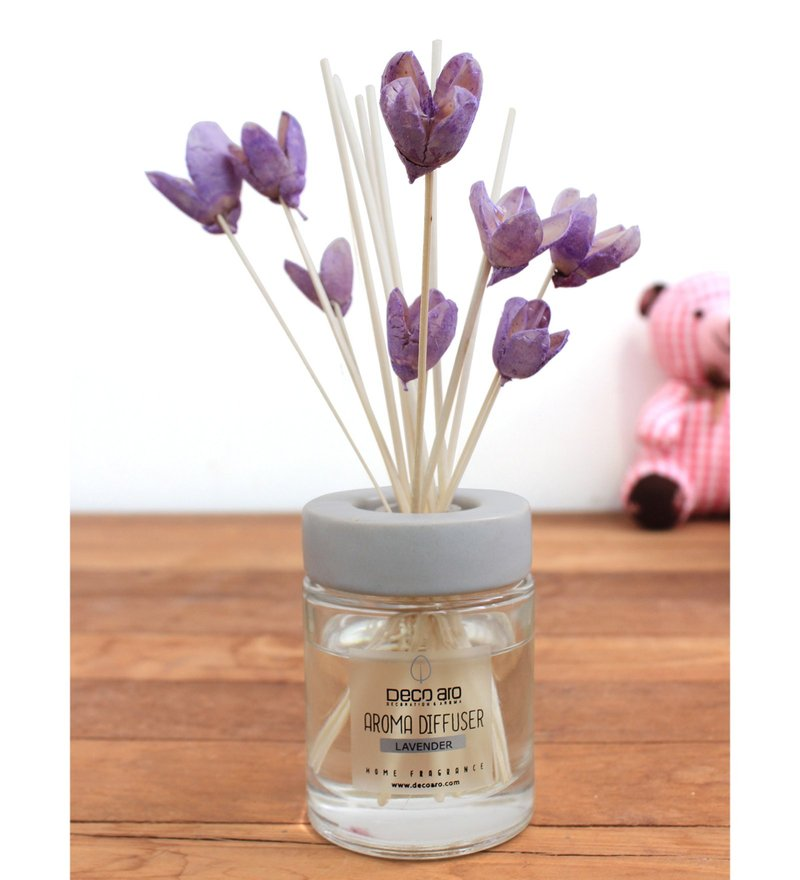 Lavender with Bakuli Flower in Reed Sticks Diffuser by Deco Aro
