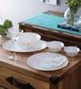 Citron Weave Opalware Dinner Set - Set of 19 by La Opala