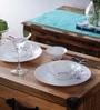 Alluring Purple Opalware Dinner Set - Set of 6 by La Opala