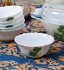 La Opala Diva Dual Harmony Opal Ware 110ML Veg Bowl - Set of 6