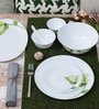 Diva Ivory Blush Opal Ware 33-Piece Dinner Set by La Opala