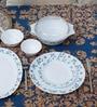 La Opala Diva Juniper Blue Opal Ware 35-piece Dinner Set