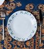 La Opal Diva Juniper Blue Opal Ware Quarter Plate Set of 6