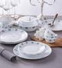 Diva Sapphire Charm Opal Ware 35-Piece Dinner Set by La Opala