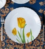 La Opal Diva Tulip Passion Opal Ware Dinner Plate - Set of 6