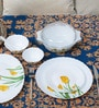 Diva Tulip Passion Opalware Dinner Set - Set of 35 by La Opala