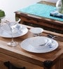 Dazzling Floral Opalware Dinner Set - Set of 6 by La Opala