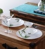 Green Bamboo Opalware Dinner Set - Set of 10 by La Opala