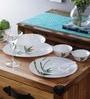 Green Opalware Dinner Set - Set of 33 by La Opala