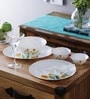 Tulip Opalware Dinner Set - Set of 33 by La Opala