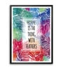 Lab No.4 - The Quotography Department Paper & PU Frame 11.9 x 16.7 Inch Hope Quote Paper Framed poster