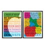 Lab No.4 - The Quotography Department Paper & PU Frame 11.9 x 16.7 Inch Steve Jobs Paper Framed poster - Set of 2
