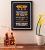 Paper & PU Frame 13 x 0.7 x 17.5 Inch Dream Big Business Quotes Framed Poster by Lab No.4 - The Quotography Department
