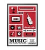 Lab No.4 - The Quotography Department Paper & PU 13 x 1 x 17.5 Inch Music Can Change The World Bono Musician Retro Inspirational Typography Poster