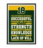 Lab No.4 - The Quotography Department Paper & PU Frame 13 x 1 x 17.5 Inch Vince Lombardi Successful Quote Framed Poster