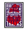 Lab No.4 - The Quotography Department Paper & PU Frame 11.9 x 16.7 Inch Santa Quote Framed poster