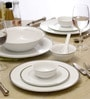 White Porcelain 33-Piece Dinner Set by Lakline