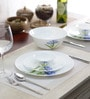 Diva Royal Iris Opalware Dinner Set - Set of 19 by La Opala