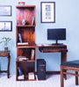 Lacanoia Study and Laptop Table in Honey Oak Finish by Woodsworth
