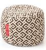 Large Cotton Canvas Geometric Design Round Ottoman Cover by Style Homez