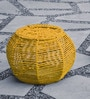 Larue Pouffe in Yellow Colour by InLiving