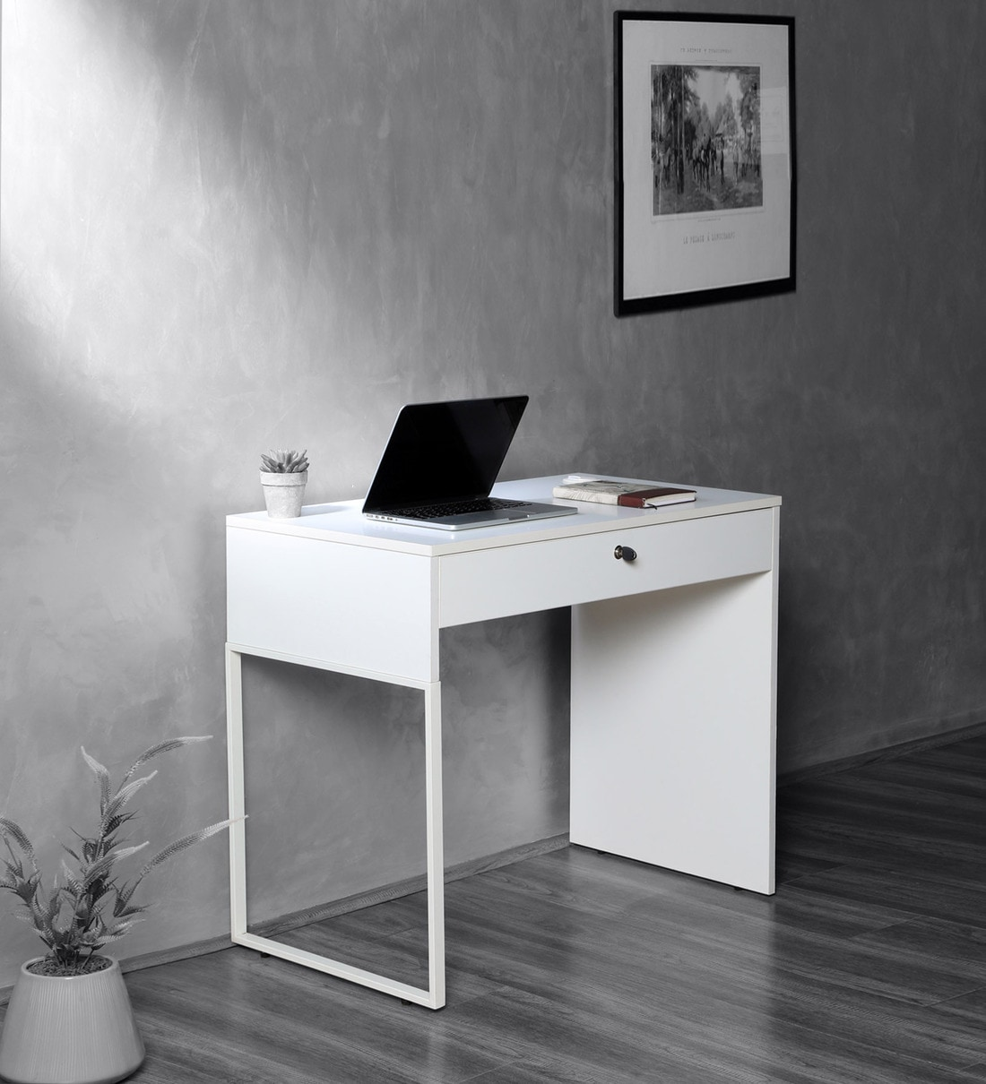Buy Leo Mini Writing Table In White Colour By Atmosphere Online Modern Writing Tables Tables Furniture Pepperfry Product