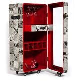 Hair-on Leather Bar Cabinet