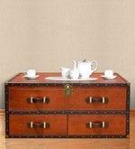 Leather Streamer Trunk Coffee Table By Studio Ochre