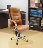 Leatherette High Back Executive Chair in Beige Colour