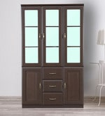 Legacy Three Door Bookcase in Wenge Colour