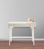 Lewis Mid Century Mini Study Table in White Colour