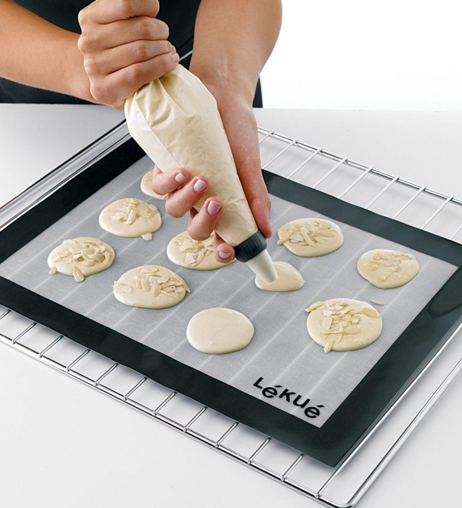 Lekue 12 by 16-Inch Baking Mat, Clear Platinum Silicone Baking Mat