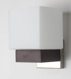 Contemporary Glass Metal Wood Wall Light WL1892