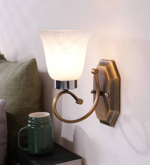 buy antique brass finish wall light wl1932 by learc designer rh pepperfry com outdoor wall lighting design wall lighting design ideas