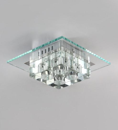flush bulb fitting fuloon modern single chandelier crystal light lamp led white ceiling lights dp lighting square aisle bathroom