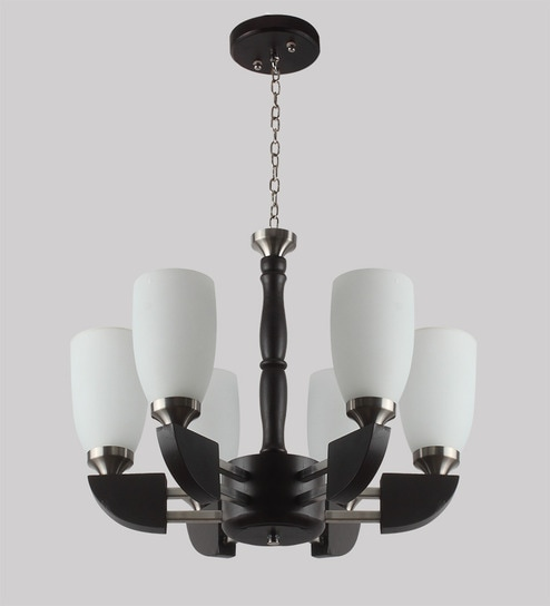 Buy brown and white glass and wood chandelier by learc designer brown and white glass and wood chandelier by learc designer lighting aloadofball Gallery