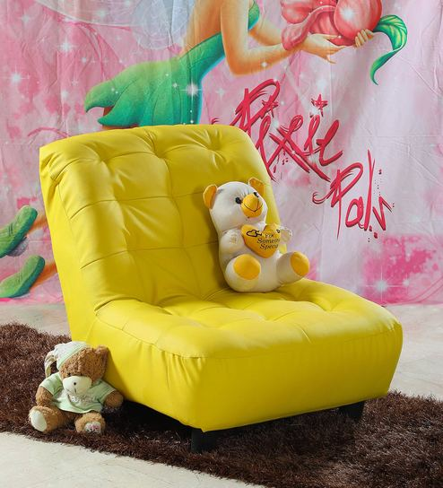 Laze Kids Sofa In Yellow By