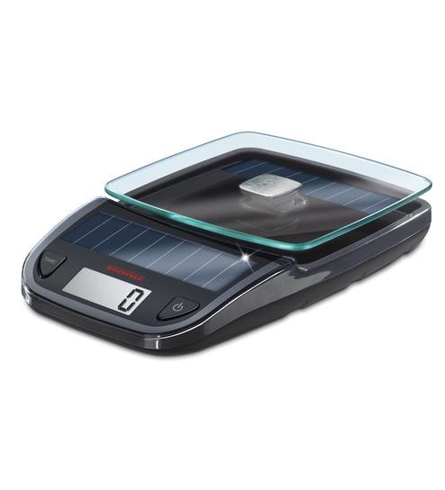 Leifheit Soehnle Black Solar Kitchen Scale