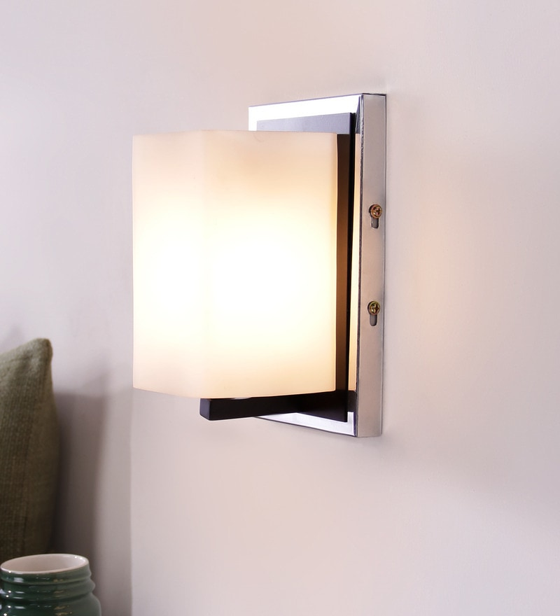 Contemporary Glass Metal Wood Wall Light WL1906 by LeArc Designer Lighting