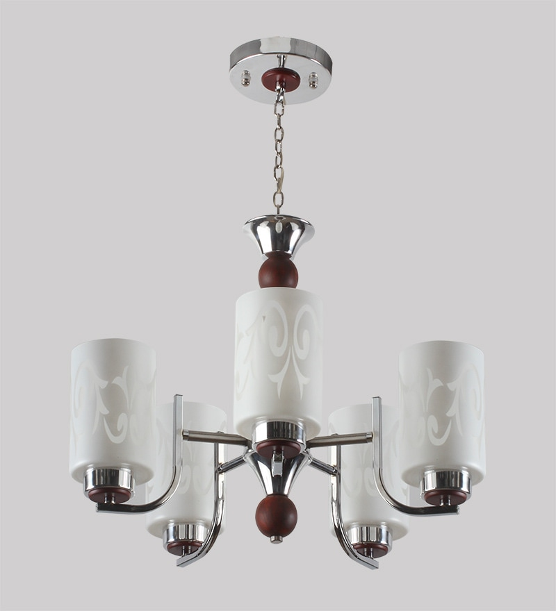 Contemporary Glass Metal Wood Chandelier CH267 by LeArc Designer Lighting