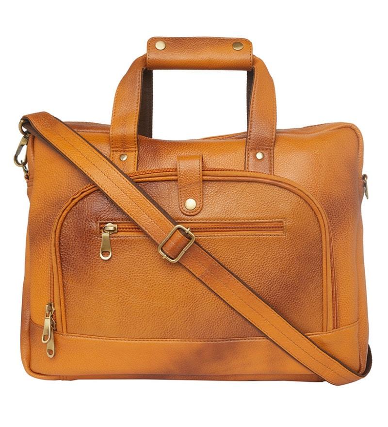 182f669f59 Buy Leather World Designer Brown Leather Messenger Travel Bag