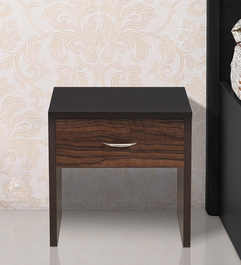 Leon Bedside Table in Wenge Finish by Crystal Furnitech