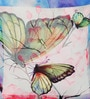 Leaf Designs Blue & Pink Poly Duck Butterfly Cushion Cover