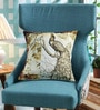 Brown Poly Duck Vintage Peacock Cushion Cover by Leaf Designs