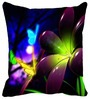Leaf Designs Green & Purple Microfibre 12 x 12 Inch Cushion Cover